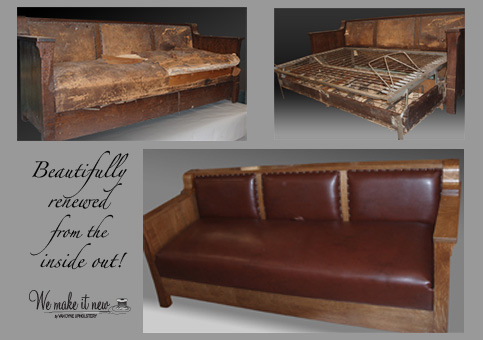 re-newed leather couch
