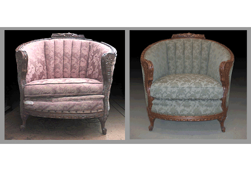 recovered barrell chair