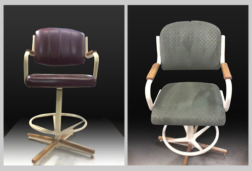 before and after swivel bar stool